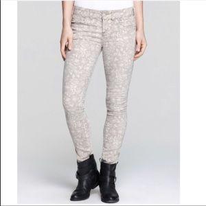 Free People Millennium Floral Skinny Jeans 26